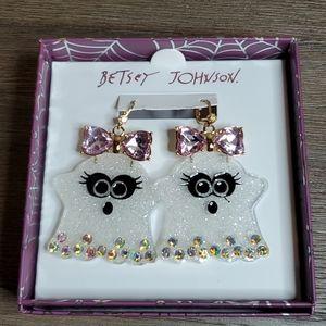 Betsey Johnson Girl Ghost Earrings